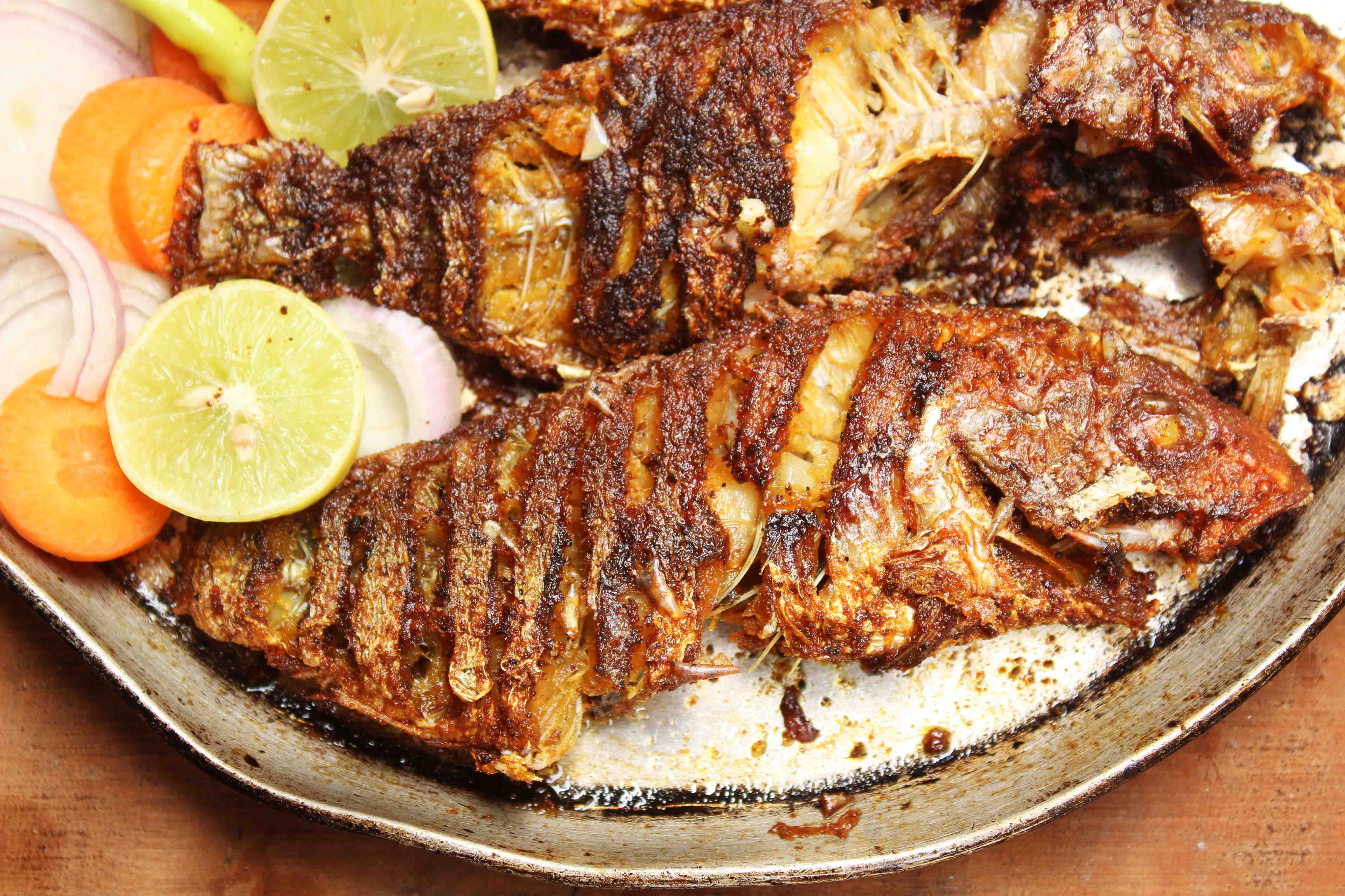 Masala Fried Kalava Or Grouper Salt And Tamarind