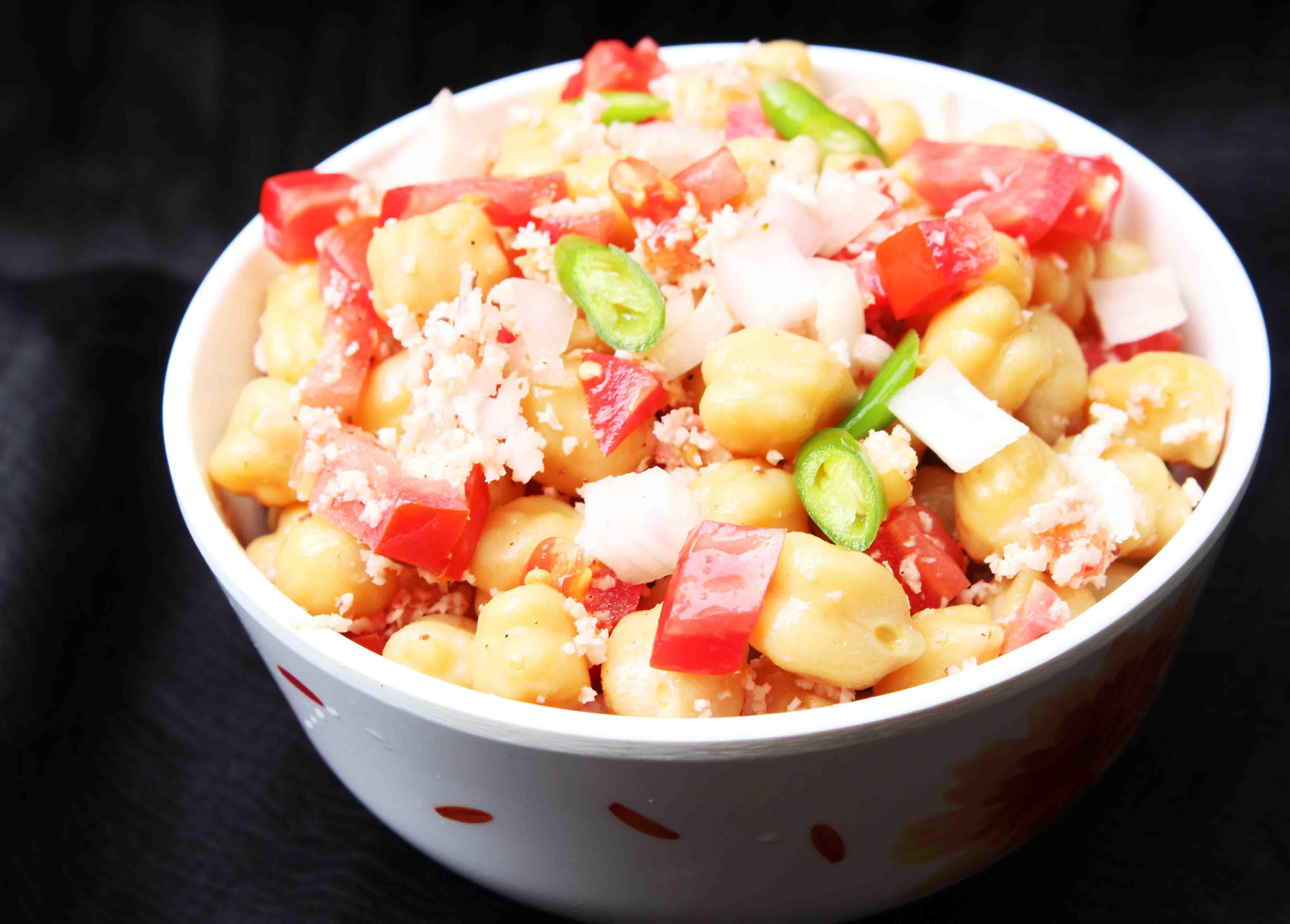 Kerala Style Spicy Chick Peas Salad Salt And Tamarind